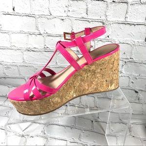 Kate spade pink Wedged sandals